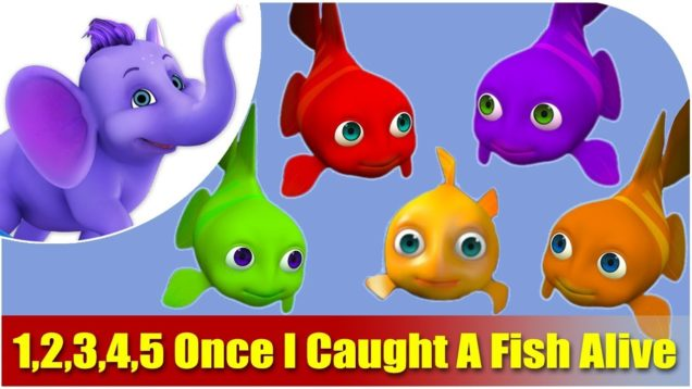 1,2,3,4,5 Once I Caught A Fish Alive Nursery Rhyme in 4K
