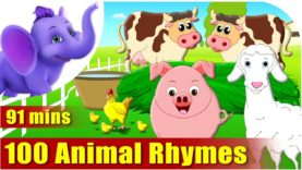 Top 100 Animal Rhymes in English