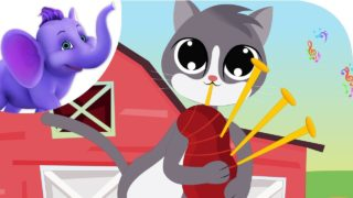 A Cat Came Fiddling – Nursery Rhyme with Karaoke
