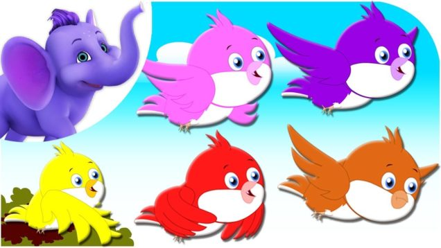 Five Colorful Birds – Nursery Rhyme with Karaoke