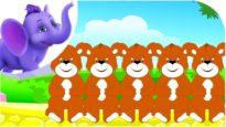 Five Dangling Teddies