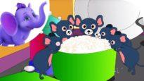 Five Little Naughty Mice