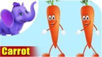 Gajar (Carrot) – Vegetable Rhymes in Marathi