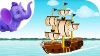 I saw a ship a-sailing – Nursery Rhyme with Karaoke