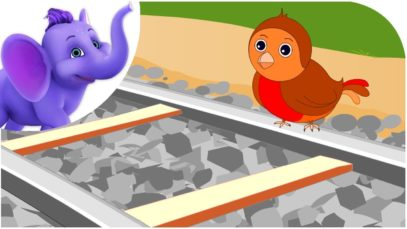 Little Robin Redbreast Sat Upon a Rail – Nursery Rhyme & Karaoke Version