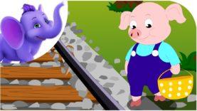 Piggy on the Railway – Nursery Rhyme with Karaoke