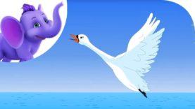 Swan, Swam Over the Sea – Nursery Rhyme with Karaoke