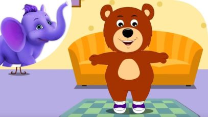 Teddy Bear, Teddy Bear – Nursery Rhyme with Karaoke