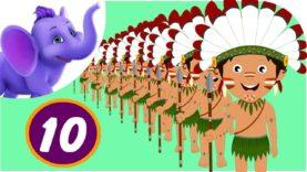 Ten Little Indians – Nursery Rhyme with Karaoke