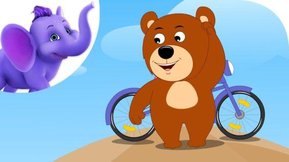 The Bear Went Over the Mountain – Nursery Rhyme with Karaoke