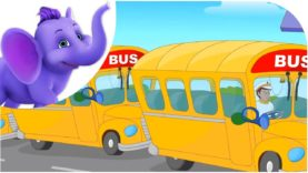 Down at the Bus Stop – Nursery Rhyme with Lyrics