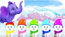 Five Little Snowmen – Nursery Rhyme with Lyrics