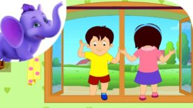 Go in and out the window – Nursery Rhyme with Karaoke