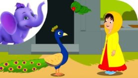 The Girl and the Birds – Nursery Rhyme with Karaoke