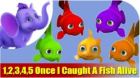 1, 2, 3, 4, 5 Once I Caught A Fish Alive Nursery Rhyme in 4K | Marathi Rhymes From APPUSERIES