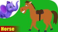 Ghoda (Horse) – Animal Rhymes in Hindi