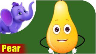 Naspati – Pear Fruit Rhyme in Marathi