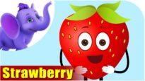 Strawberry – Fruit Rhyme in Marathi