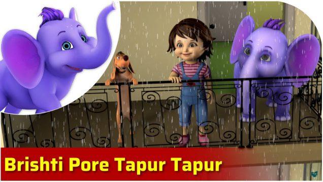 Brishti Pore Tapur Tapur – Bengali Song for Kids in 4K by Appu Series
