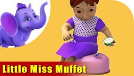 Little Miss Muffet | English Nursery Rhyme for Children in 4K | Appu Series
