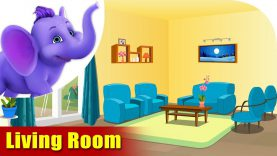Living Room – Learning song for Children in 4K by Appu Series