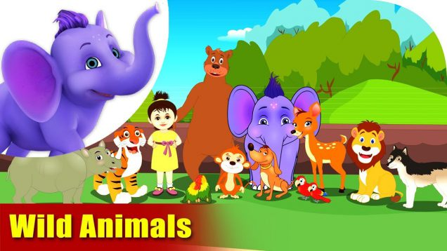 Wild Animals – Learning song for Kids in 4K by Appu Series